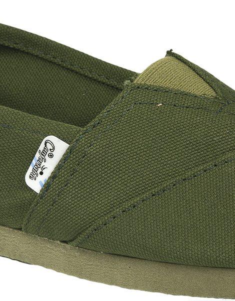 Alpargatas reforzadas verdes - Confortable SRL