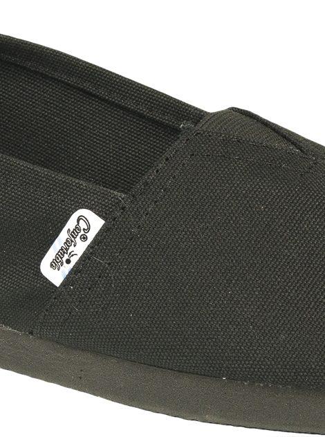 Alpargatas negras con elástico - Confortable SRL
