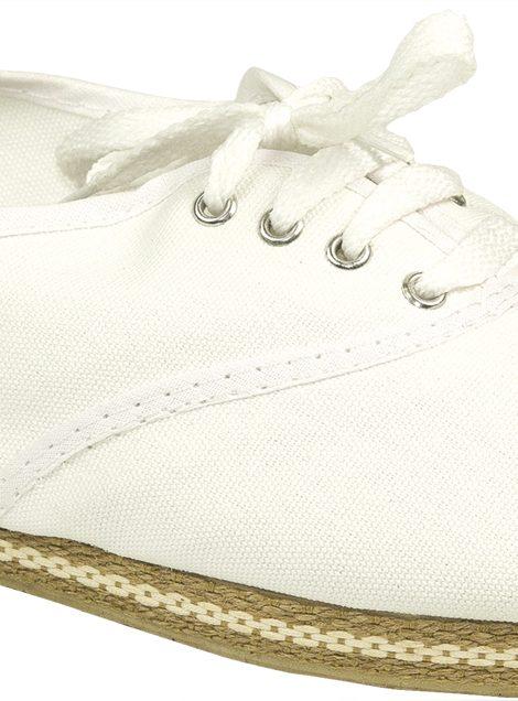 Alpargatas blancas con cordones y vira de yute - Confortable SRL