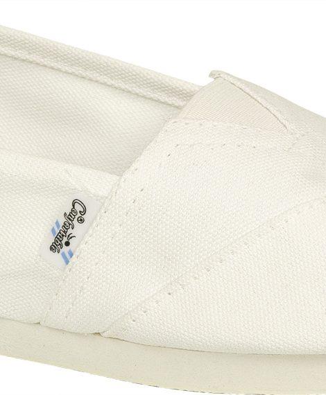 Alpargatas reforzadas blancas - Confortable SRL