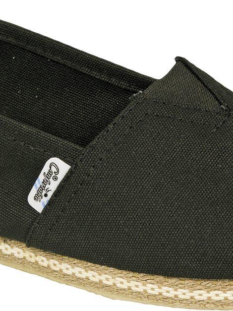 Alpargatas negras con vira de yute - Confortable SRL
