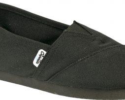 Alpargatas negras reforzadas - Confortable SRL