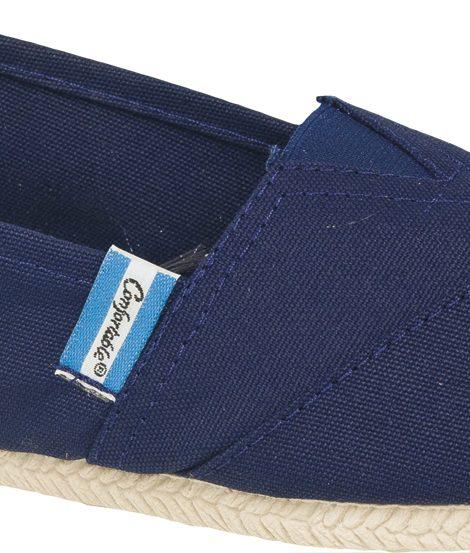 Alpargatas reforzadas azules suela PVC - Confortable SRL
